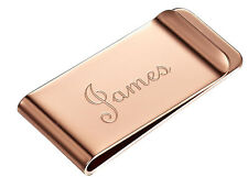 Visol Stefan Rose Gold Engravable Money Clip, VMC-906a, FREE ENGRAVING