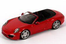 1:43 Porsche 911 Carrera Cabriolet In Guards Red 991 2011 - Dealer Edition OEM