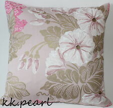 """Double Sided Cushion Cover Gold Pink Designer GUILD Irise  Fabric John Lewis 18"""""""