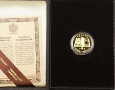 1982 Canada Constitution $100 22k Gold Proof Commemorative Coin as Issued