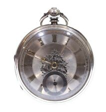 Very Large Antique Pocket Watch 1883 Solid Silver Fusee Lever. Serviced