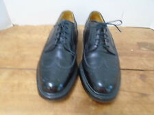 Florsheim Imperial 9 D Leather Shoes Mens 5 Nail Stitched Wingtip Black USA