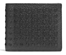 COACH STUDS 3-IN-1 WALLET IN BUFFALO LEATHER STYLE #75443 RETAIL $250 BLACK GIFT