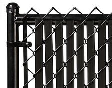 Chain Link Black Double Wall (Tube) Privacy Slat For 5ft High Fence Bottom Lock