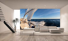 Sailing Boat in the Sea Wall Mural Photo Wallpaper GIANT DECOR Paper Poster
