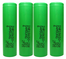 Genuine Samsung 25R 2500mAh 20A High Drain 18650 3.7v IMR INR Battery x 4