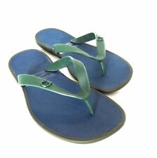 S-1055968 New Salvatore Ferragamo Gym Dark Ivy Rubber Sandal Shoes Size US-10