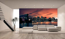 Brooklyn Bridge Wall Mural Photo Wallpaper GIANT DECOR Paper Poster Free Paste