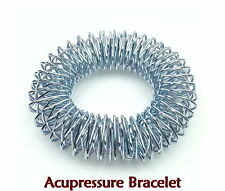 Acupressure Bracelets (2pcs) + Sujok Finger Massager Circulation Rings (5pcs)