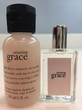 Philosophy Amazing Grace Deluxe/Travel Sz Set. Eau De Toilette & Shower Gel NEW!