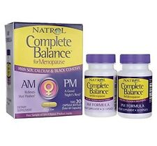 Natrol Complete Balance AM+PM 30+30  Menopause with A Free Pill Case