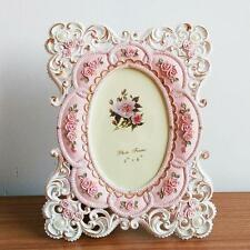 Retro Pink Rose Flower Home Decor Photo Frame Picture Frame Resin 6'' x 4''