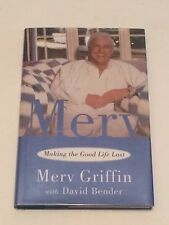 MERV GRIFFIN SIGNED Making the Good Life Last BOOK 1st - Jeopardy Wheel Fortune
