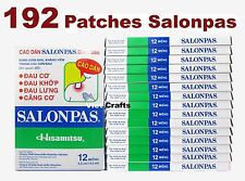 Lot 16x12 = 192 Patches Hisamitsu SALONPAS - Muscle Pain Relief - Best Price
