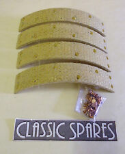 MG TC 1945-1951 NEW SET OF 4 FRONT BRAKE LININGS WITH RIVETS (E111AF)