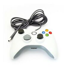 White Wired Shock Video Game Pad Joypad Controller For Microsoft xBox 360