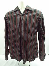 Equilibrio Men's Long Sleeve Button Down Stripe Dress Shirt Made in Italy A074
