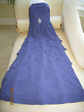 DEMETRIOS Amethyst, Strapless, Mother of the Bride / Formal Dress; Size 4; $600
