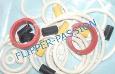 Kit caoutchoucs flipper  TIME MACHINE 1988  DATA EAST elastiques blancs