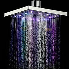 8inch 7 Colors Automatic Changing Square Bathroom LED Light Rain Top Shower Head