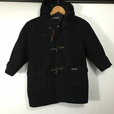 Chevignon Black Wool Hooded Toggle Coat Youth SZ 5 S Jacket Designer French