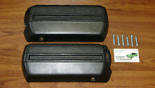"Arm Rest Bases Black Pair w/Screws Front Lower Base 11.5"" pad A,F,X,B Body GM"