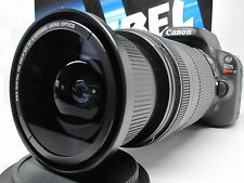 Ultra Wide Angle Macro Fisheye Lens for Canon Eos Digital Rebel  w/28-135 18-200
