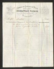 """BESANCON (25) USINE de CHAPEAUX de PAILLE / MODE """"DUCHATEAU Freres"""" en 1873"""