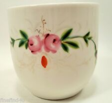 Vtg Mustache Cup Sprigs of Roses w/ Gold Accents Ships FREE