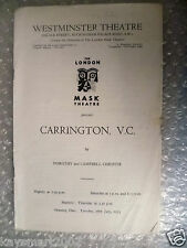 1953 Theatre Programme CARRINGTON V. C. by Dorothy,Campell Christie