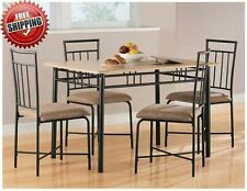 Small Dining Set 4 Chairs Table Living Room Compact Kitchen Furniture Wood Bar