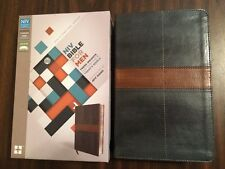 NIV Bible for Men - $49.99 Retail - Charcoal / Tan DuoTone - Devotional