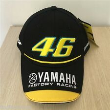 NEW BLACK Valentino Rossi VR46 Moto GP Baseball Cap Hat Yamaha 3D Embroidered