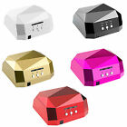 36W LED CCFL Nail Dryer Diamond Shape Curing Machine For UV Gel Lamp Nail Polish