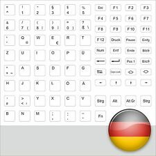 GERMAN KEYSTICK TASTATURAUFKLEBER DEUTSCH WEIß MACINTOSH APPLE WHITE