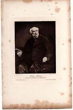 GRAVURE XIXè  Jules SIMON  D'après SCHOMMER  PHOTO DE DUJARDIN IMP WITTMANN