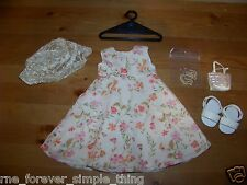 American Girl of Today Flower Garden Outfit Complete! Spring Easter Dress Nice!!