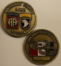 101st / 82nd Airborne Division 55th Annv D-Day Normandy Army Challenge Coin