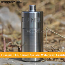 TITANER Titanium Waterproof CR123A Battery Case Container Capsule Seal Canister
