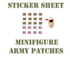 US Flag sticker (273) decals for toy Army and Swat Brick Minifigures