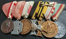 ✚6089✚ Austro-Hungarian mounted medal group WW1 Karl Troop Cross Bravery Medal