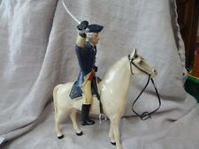 Vintage 1950s Hartland George Washington Toy with Horse, Saddle, Hat and Sword