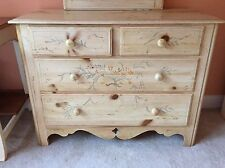 Ethan Allen Hand Painted Complete Cottage Bedroom Set - 7 Pieces - Gorgeous Set