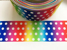 1 Yard ombre polka dot grosgrain ribbon - 75mm 3 inch wide - ideal for crafts