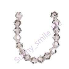 100Ps Crystal Glass 5301# Bicone Loose Spacer Beads Charms Findings 4mm 70Colors