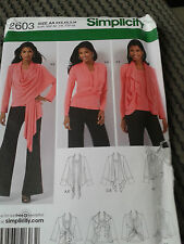 SIMPLICITY SEWING PATTERN 2603 WOMEN'S  TOP