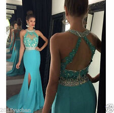 2016 Turquoise Mermaid Evening Gowns Prom Bridesmaid Dresses Formal Party Dress