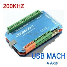 200KHz CNC USB MACH3 Interface Board 4 Axis Breakout controller Board Control