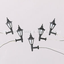 5PCS 1:50 Model Railway Led Lamppost Lamps Wall Lights O Scale 3V Warm White