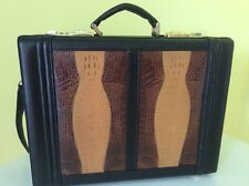 GENUINE LEATHER CROCODILE EMBOSSED ATTACHE' SATCHEL BAG! $199.00+ MUST SEE!